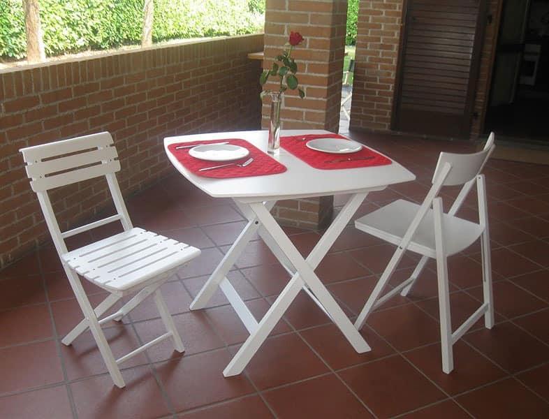 Kimono table, Folding table in beech plywood