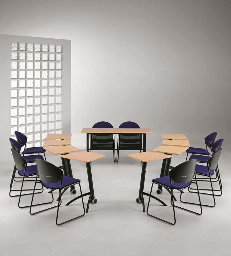 KOMBY 935, Table with folding top, for conference halls