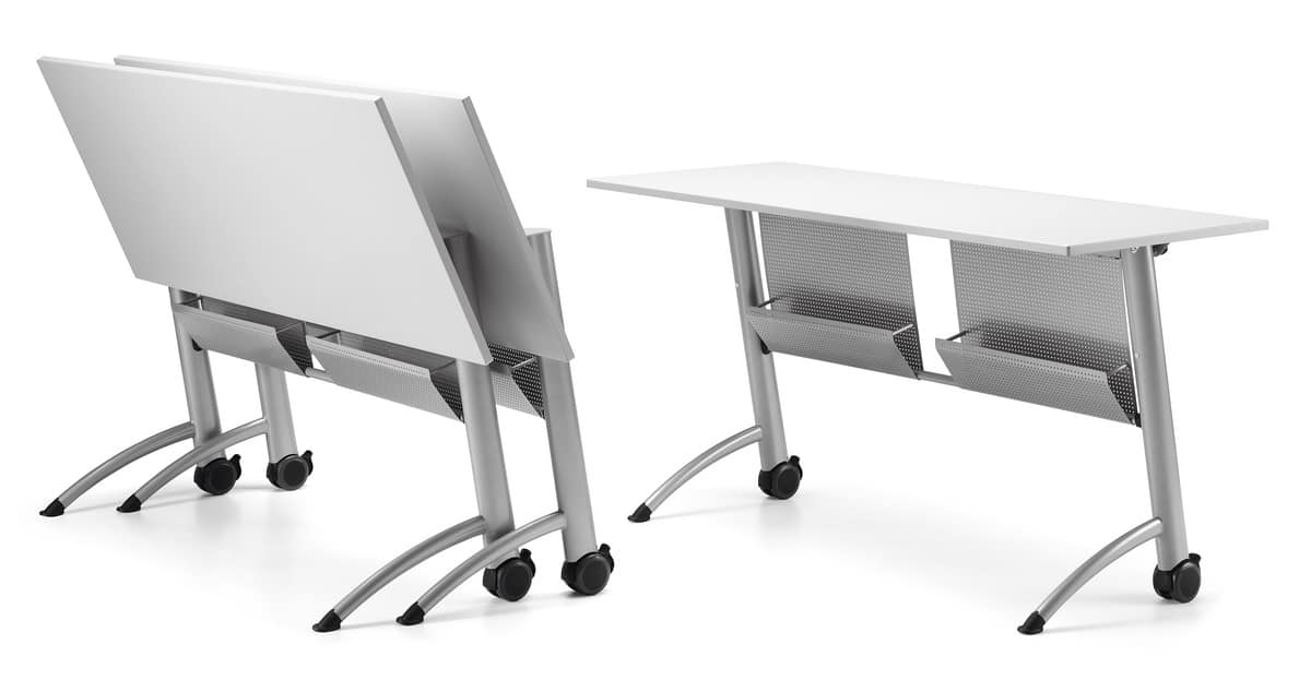 KOMBY 937, Table with folding top with wheels, for meeting areas