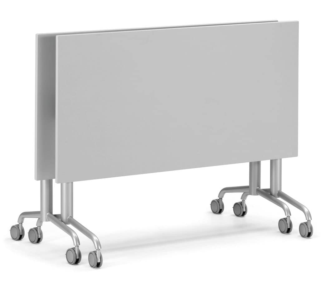 KOMBY 938 W, Table with folding top and blocking wheels