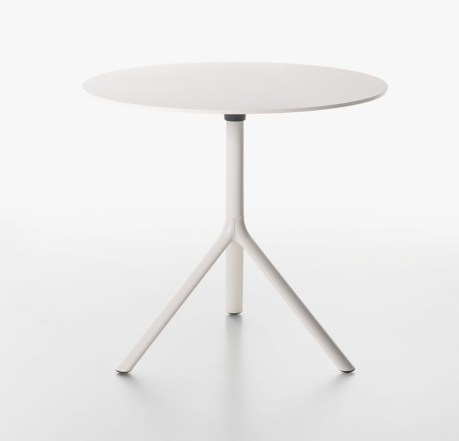 Miura I Round bistro table, Round small table with folding top