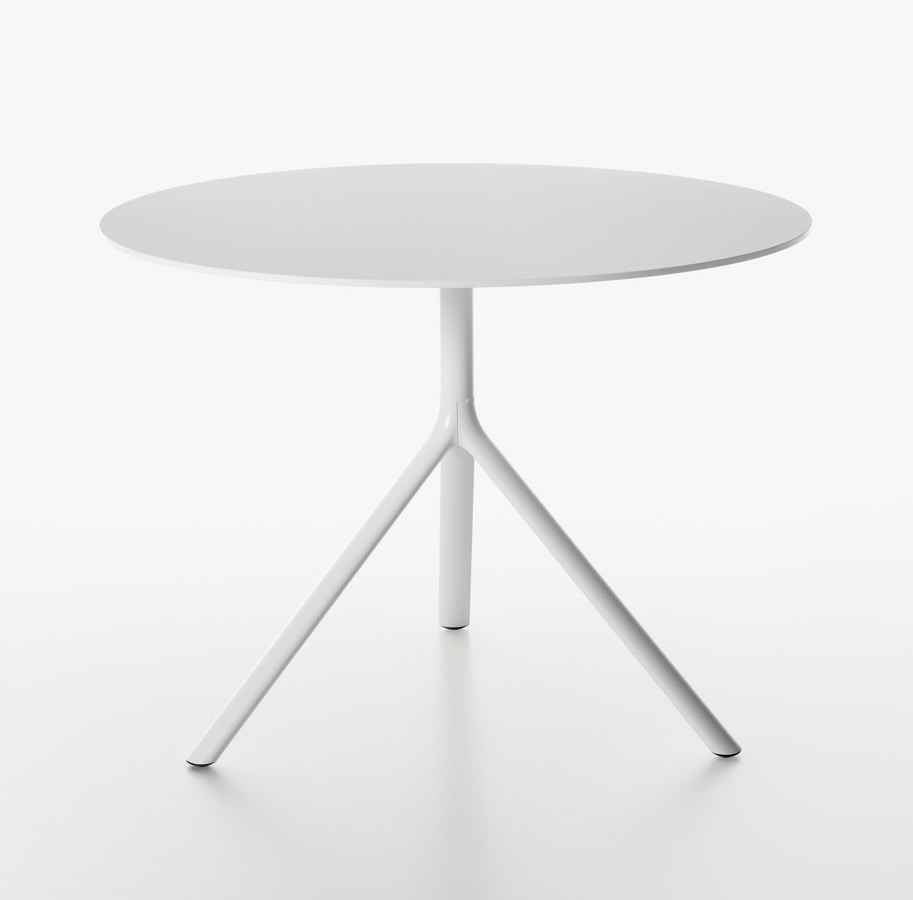 Miura I round table ( Ø 100-110), Round table with folding top