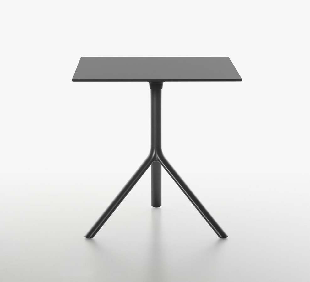 Miura I Squared bistro table, Square coffee table with folding top
