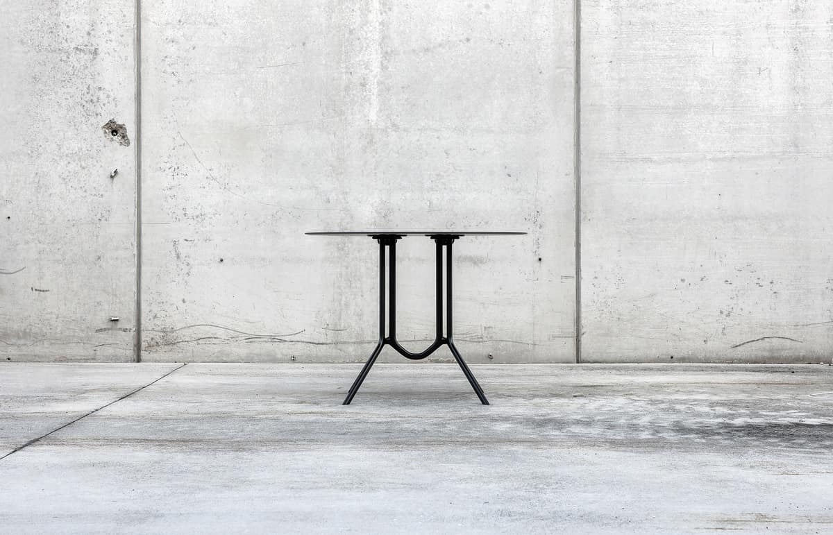 Poule double round, Lightweight aluminum folding table, for outside
