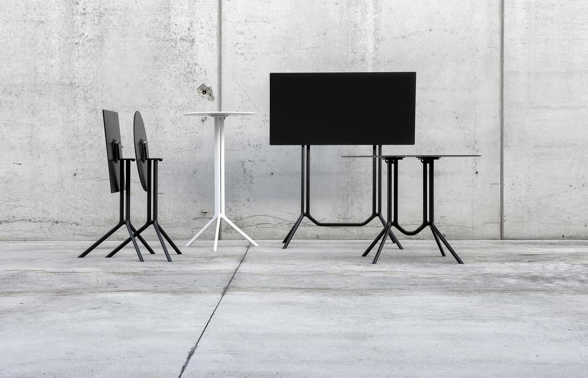 Poule Rectangular high, Rectangular high design table, for outdoor bar