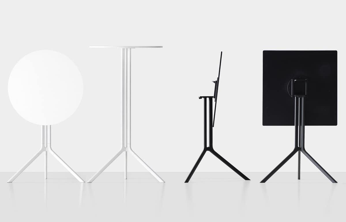 Poule square, Square folding design table, for outside
