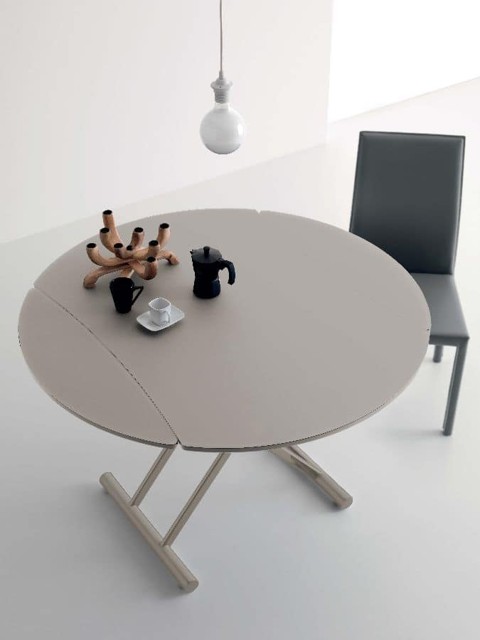 Folding Table Liftable With Pump Lacquered Top IDFdesign - Liftable table