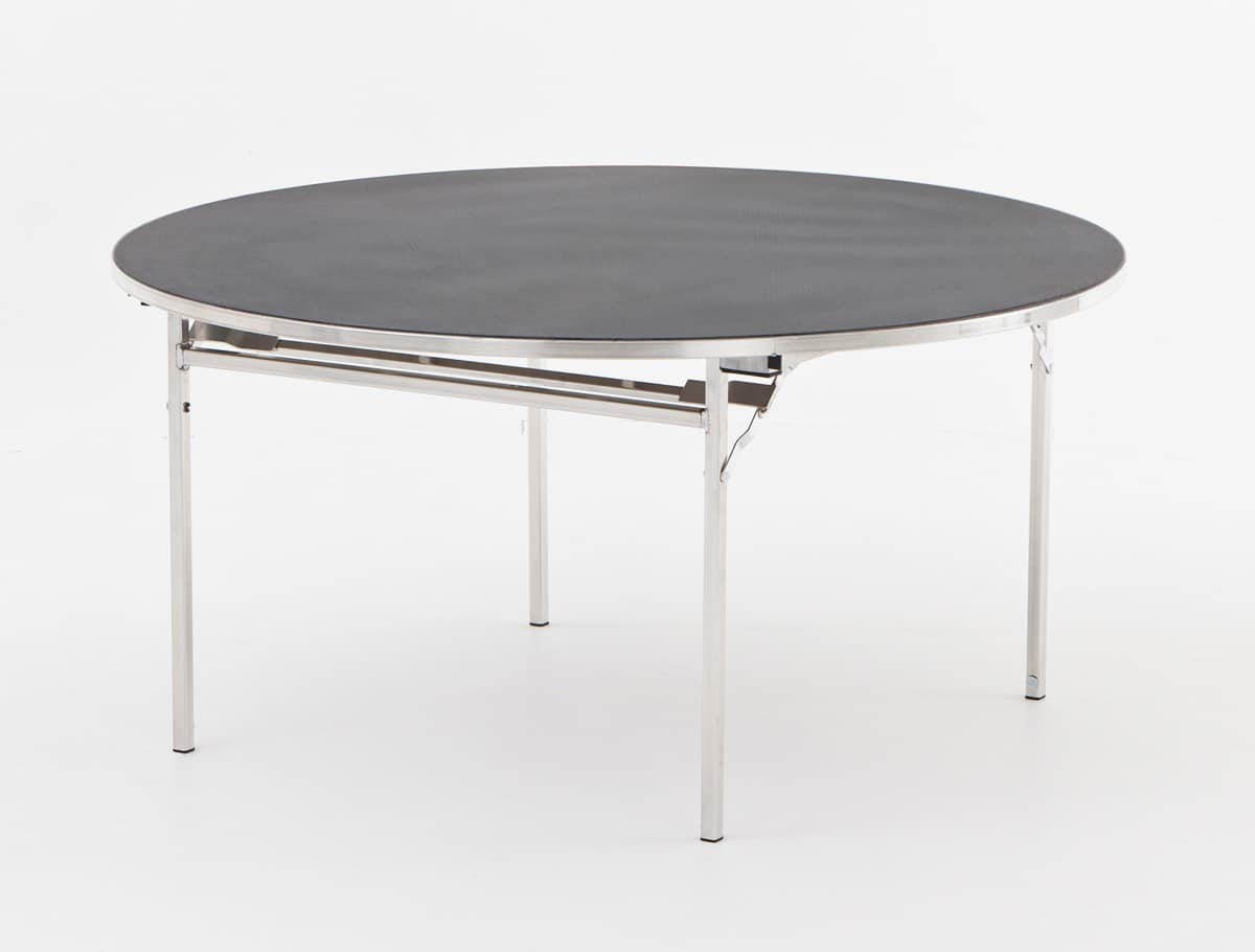 Slimlite BSL18D, Table with folding frame, for conference halls