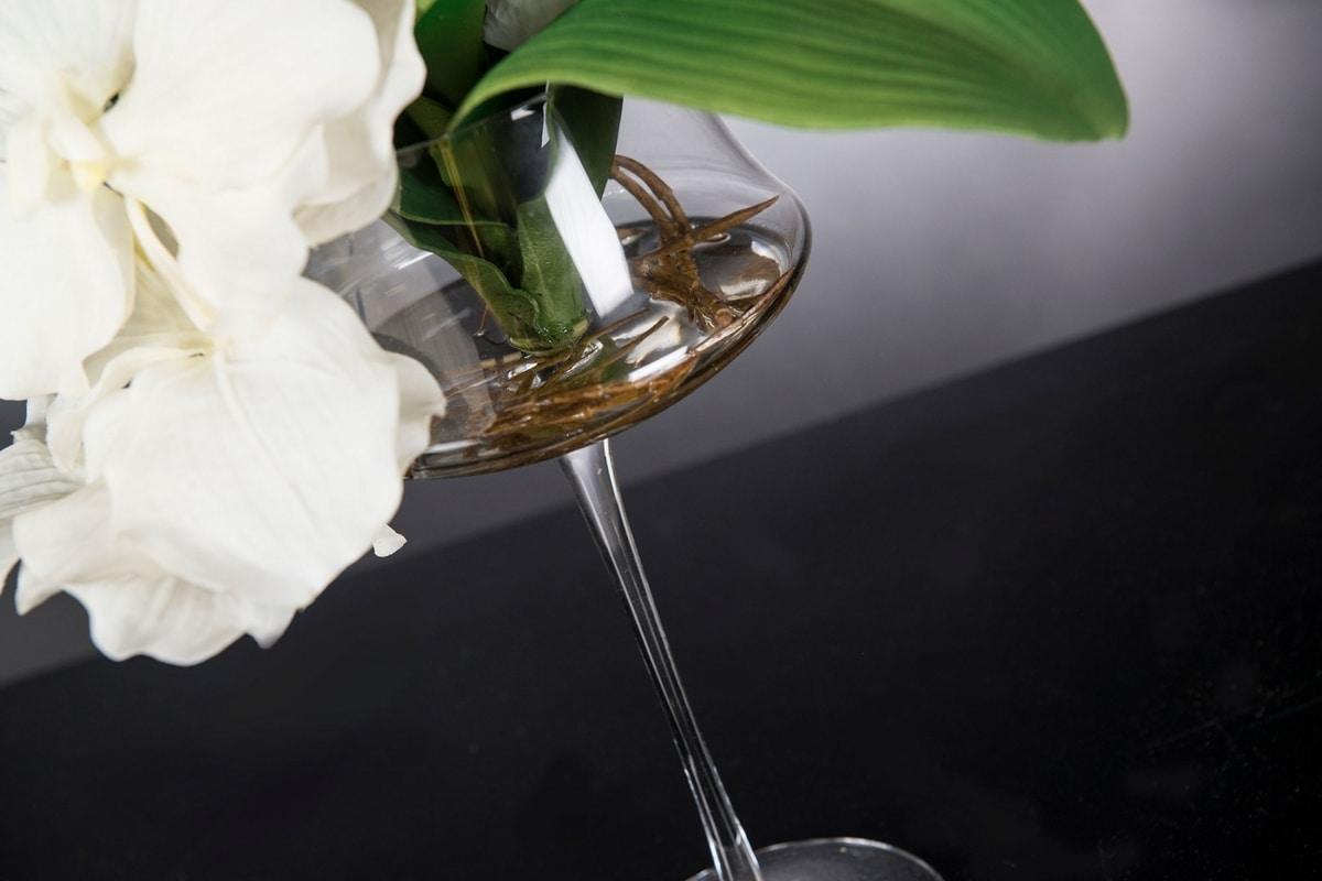 Eternity Coppa Minimes Vanda, Floral arrangement on glass goblet