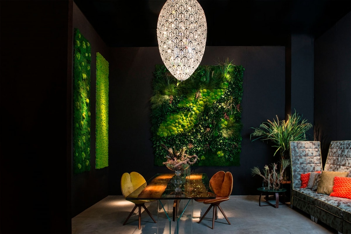 Flatmoss con Polemoss, Modular panel for green wall