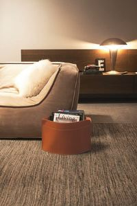 Giusy, Space saving magazine racks, in leather