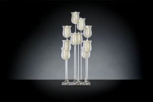 Linear Fotoforo 10, Mouth blown glass candle holder