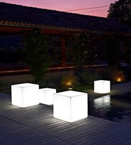 LT 2706, Bench in polycarbonate with internal light, for swimming pools
