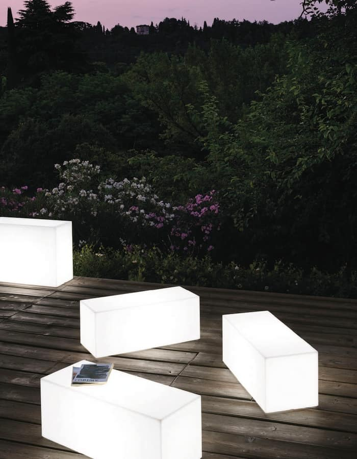 LT 2756, Complements furniture, polycarbonate bench, interior light
