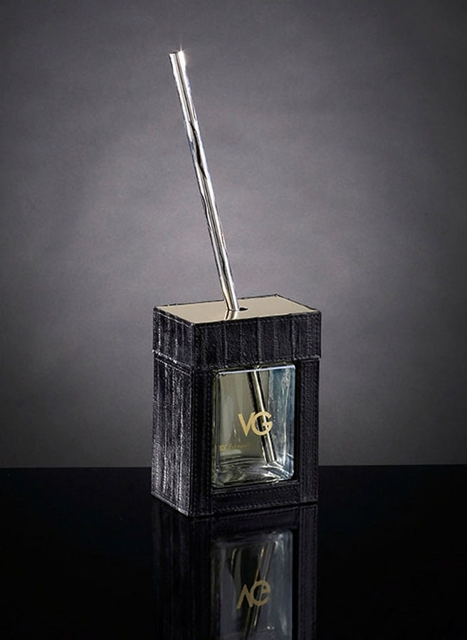 Luxury Home Parfum, Room fragrance covered in leather