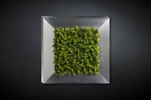 New Eucalyptus, Decorative metal panel with artificial flowers