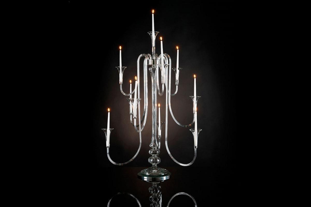 Octopus x 10 Candlestick, Elegant pyrex candlestick