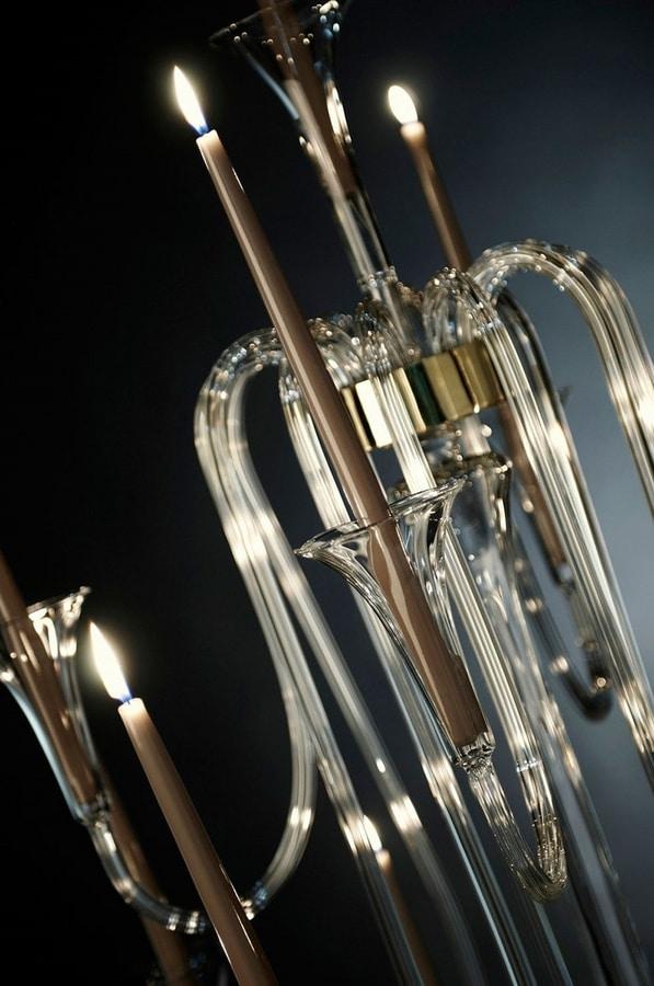 Octopus x 13 Candlestick, Pyrex candlestick