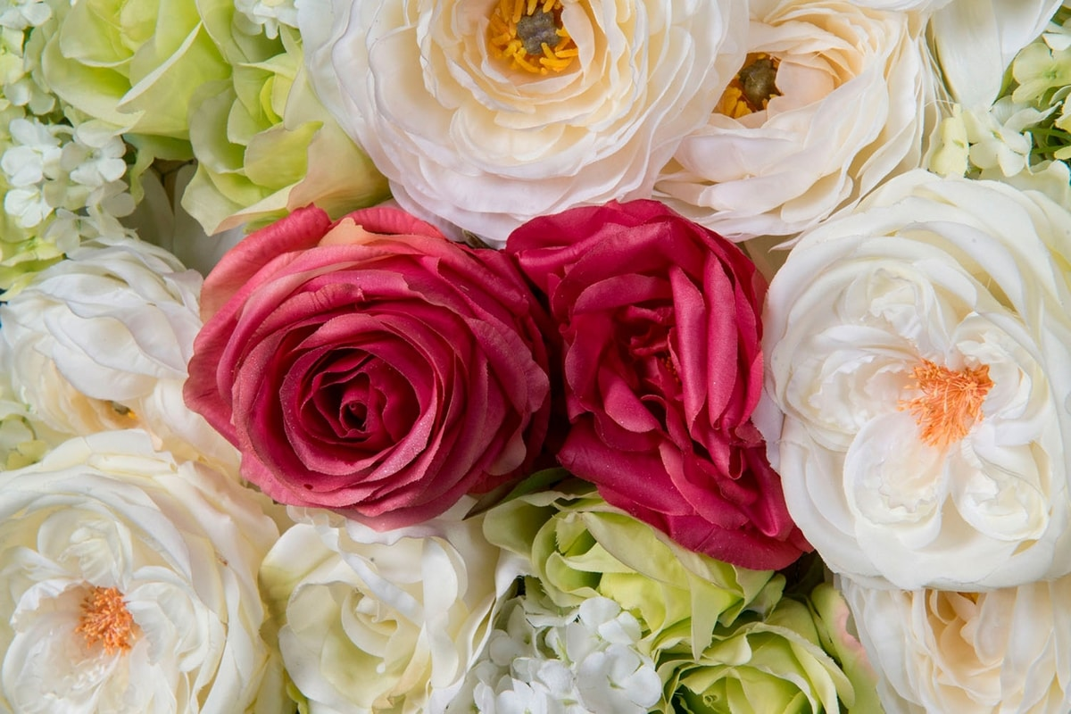 Rose Flower Wall, Decorative floral walls