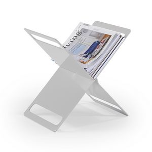 X magazine rack, Magazine rack in painted metal sheet
