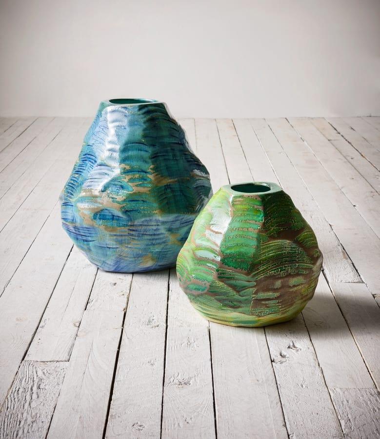 Cardo, Vases in glossy enamel hand sandpapered