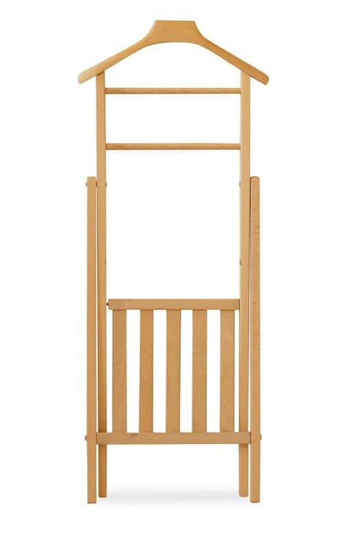 Clothes stand, Collapsible clothes rack in beech, for apartment