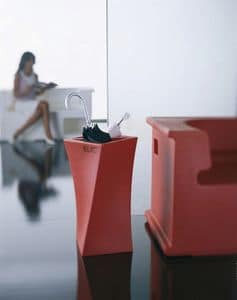 Elic, Design umbrella stand, made of polyethylene, for the home or office