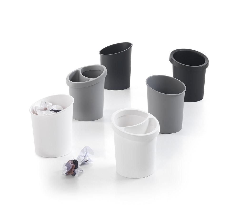 Hi-Tech 2, Stackable wastepaper basket in polypropylene