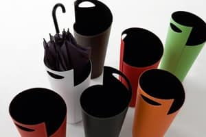 Ombo 855, Umbrella stand in painted steel, covered in leather