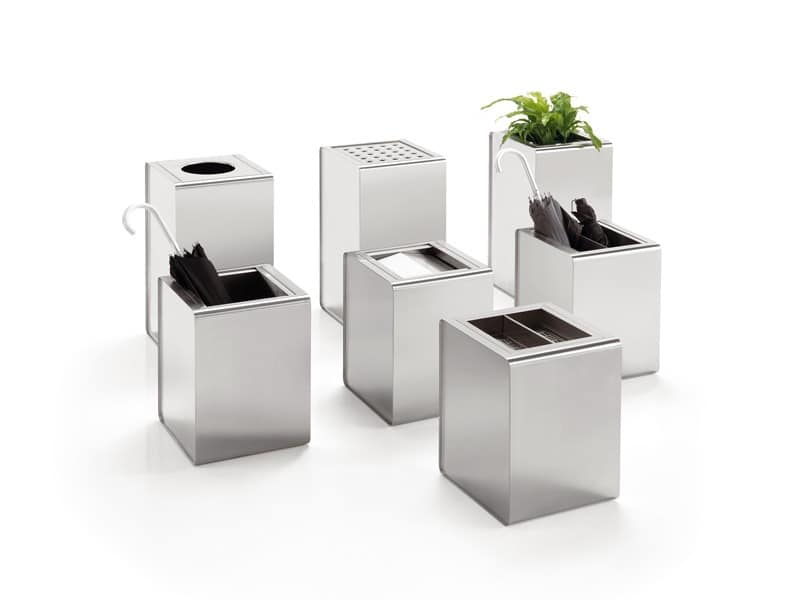 Prisma, Steel accessories used as umbrella stands, baskets or flower boxes