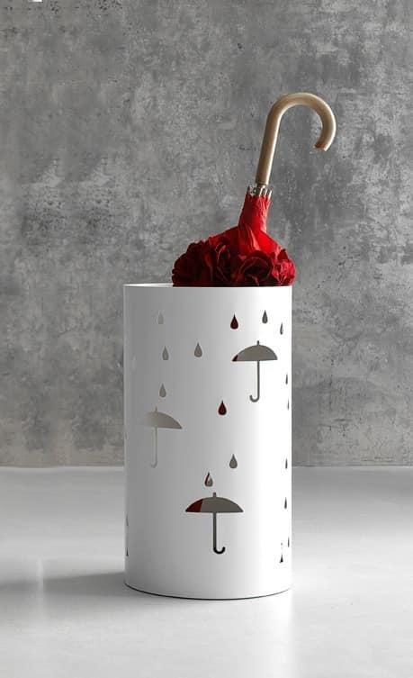 Rain umbrella stand, Umbrella stand in laser cut steel
