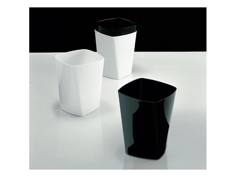 Swing cestini, Wastepaper basket in polymer, for the office