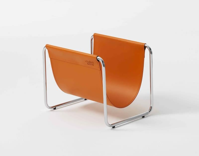 Ugo, Magazine metal and leather, for salons and offices