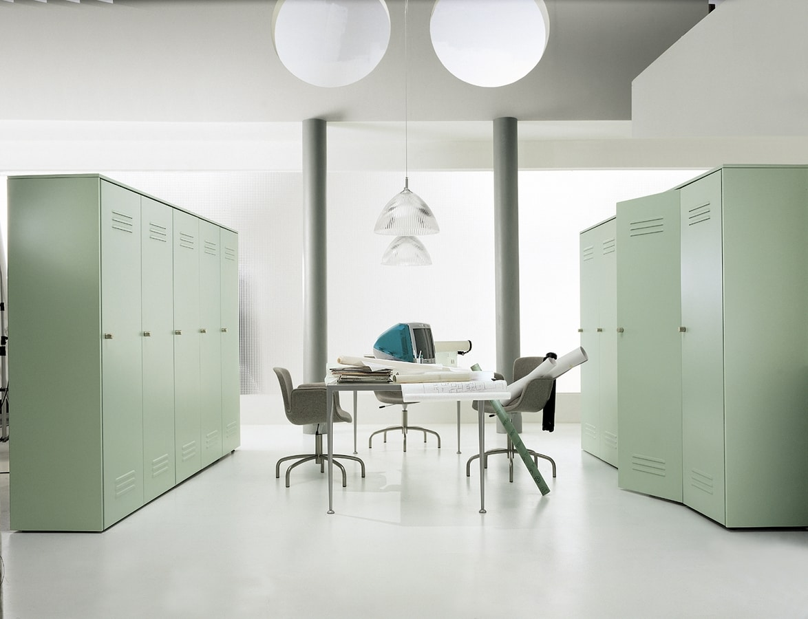 CITYBOX comp.05, Steel cabinet, various lacquers, for office