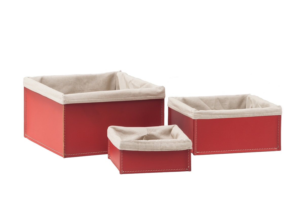 Ketty, Container in bonded leather, ideal for home