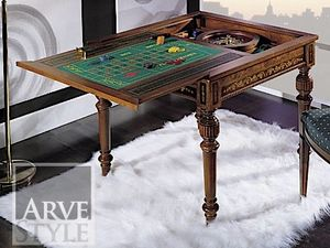 Canaletto game table, Gaming table with interchangeable top