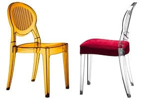 Barbarella, Modern chair, for indoor and outdoor use