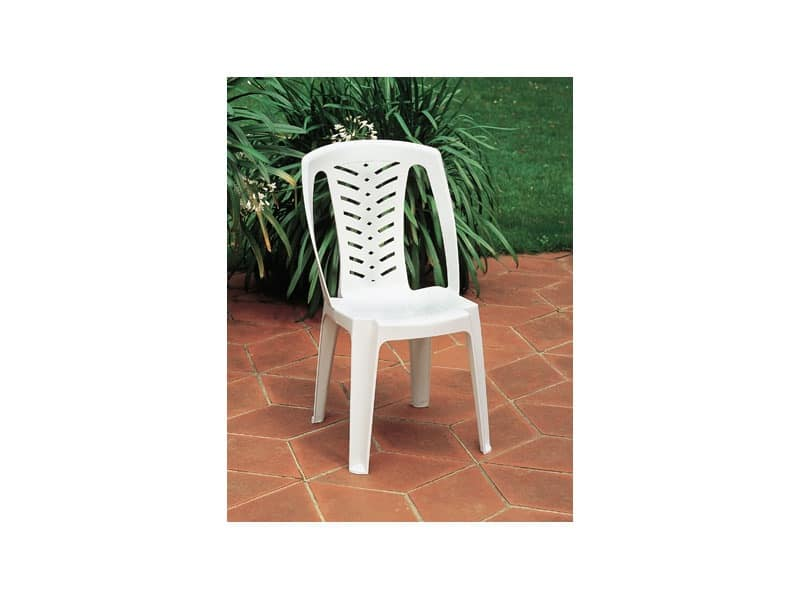 Corona, Plastic chair with high backrest, for outdoor use