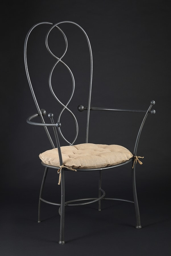 HEART HF2022CH, Garden chair in gray iron