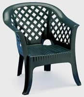 Lario, Plastic armchair with armrests, for outdoor use