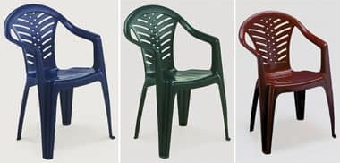 Malibù, Stackable chair in plastic with armrests, for outdoor