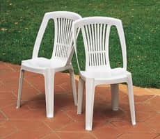 Stella, Plastic chair for outdoor use