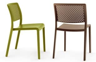 Tara - S, Plastic stackable chair without armrests, for outdoor