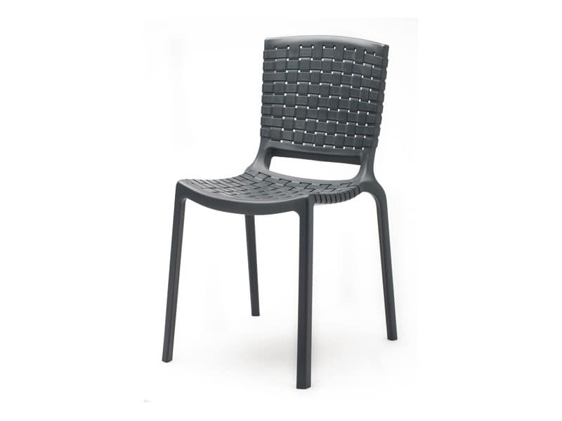 Tatami 305, Stackable chair made of durable plastic, for outdoor use