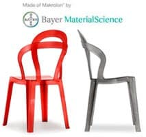 TiTì, Design chair in polycarbonate, stackable, for outdoors