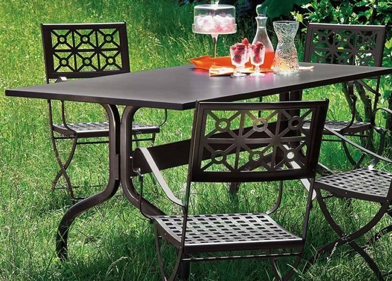 Achille, Metal table for garden, 140x80 cm or 160x85 cm