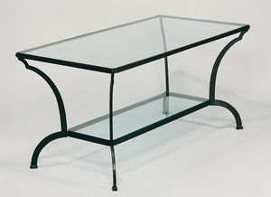 ARCHI GF4013TA, Outdoor table, in iron and glass