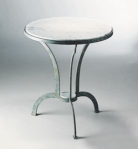 ARCHI GF4013TA-RO, Outdoor table in iron with marble top