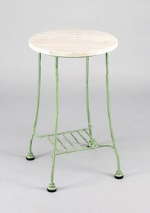 BAMBOO GF4012TA-S, High table for garden, in iron and marble