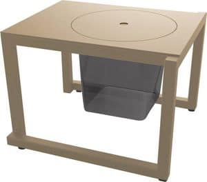 Bristol - TS, Auxiliary small table suitable for outdoor, metal table suited for gardens